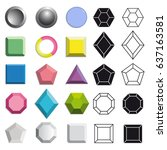 vector colorful flat and 3d...   Shutterstock .eps vector #637163581