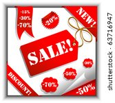 vector set of sale tags | Shutterstock .eps vector #63716947