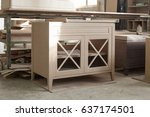 manufacture of wooden furniture | Shutterstock . vector #637174501
