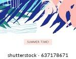 creative universal floral card... | Shutterstock . vector #637178671