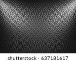 abstract modern grey metal... | Shutterstock . vector #637181617