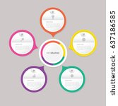 circle infographic template... | Shutterstock .eps vector #637186585