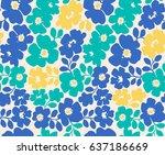 Vector Seamless Flower Pattern...