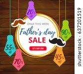 father's day sale offer.... | Shutterstock .eps vector #637201519