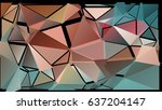 abstract pattern consisting of... | Shutterstock .eps vector #637204147