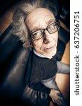 funny senior man making faces | Shutterstock . vector #637206751
