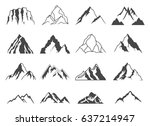 mountain shapes for logos | Shutterstock .eps vector #637214947