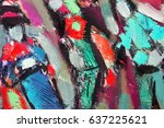 fragment paintings in the style ... | Shutterstock . vector #637225621