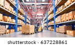 concept of warehouse. the... | Shutterstock . vector #637228861