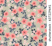 seamless folk pattern in small... | Shutterstock .eps vector #637229641