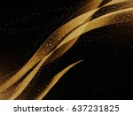 Abstract Golden Lines On Dark...