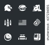 vector set of america symbols...   Shutterstock .eps vector #637236001