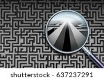 business search solution and to ... | Shutterstock . vector #637237291