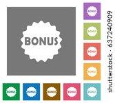 bonus sticker flat icons on...   Shutterstock .eps vector #637240909