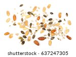 healthy mix of salty and spicy... | Shutterstock . vector #637247305