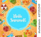 vector summer time holiday. ... | Shutterstock .eps vector #637252549