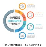 4 options infographic template... | Shutterstock .eps vector #637254451