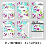 abstract vector layout... | Shutterstock .eps vector #637254859