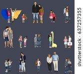 diversity people family... | Shutterstock . vector #637257355