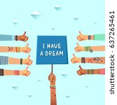 equal rights dream concepts.... | Shutterstock .eps vector #637265461