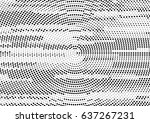abstract black and white... | Shutterstock .eps vector #637267231