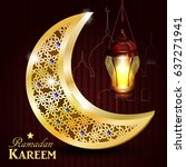 ramadan greeting card | Shutterstock .eps vector #637271941