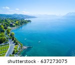 amazing aerial panorama of... | Shutterstock . vector #637273075
