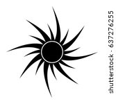 sun silhouette vector symbol... | Shutterstock .eps vector #637276255