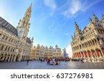 brussels  belgium   april 20 ... | Shutterstock . vector #637276981