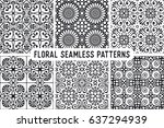 seamless pattern tile with... | Shutterstock .eps vector #637294939