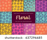 seamless pattern tile with... | Shutterstock .eps vector #637296685