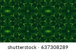 Kaleidoscopic Forest Green...