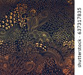 vector organic seamless... | Shutterstock .eps vector #637317835