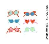 Summer Beach Print. Sunglasses...