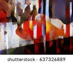 Fish Japanese Carp. Abstractio...