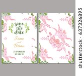 save the date card template in...   Shutterstock .eps vector #637326895