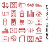modern icons set. set of 25...   Shutterstock .eps vector #637329595