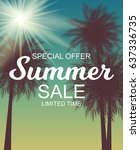 colored summer sale background  ... | Shutterstock . vector #637336735