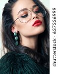 fashion studio photo of... | Shutterstock . vector #637336999