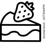 dessert vector icon | Shutterstock .eps vector #637346995