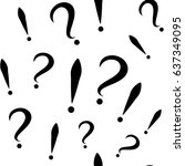 seamless pattern with question... | Shutterstock .eps vector #637349095