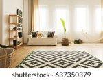 modern  warm home interior with ... | Shutterstock . vector #637350379