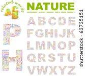 nature. vector letter... | Shutterstock .eps vector #63735151