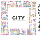 city. word collage on white... | Shutterstock .eps vector #63735214