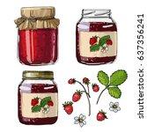 strawberry jam. strawberries....