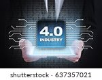 industry 4.0. iot. internet of... | Shutterstock . vector #637357021