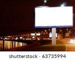 the big white bill board on... | Shutterstock . vector #63735994