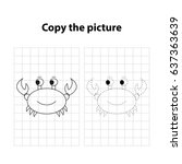 crab  copy the picture  game... | Shutterstock .eps vector #637363639