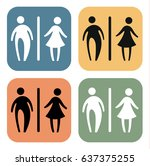 toilet icon sign  vintage style | Shutterstock .eps vector #637375255