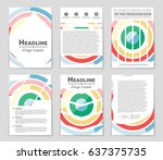 abstract vector layout... | Shutterstock .eps vector #637375735